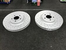 AUDI A4 A6 S4 A5 S5 3.0TFSI QUATTRO SLINE CROSS DRILLED BRAKE DISCS 345MM FRONT