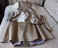 Party ballgown bridesmaids dress DEBUT Size 10 Light brown deep beige With stole