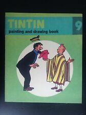 Album Cahier à colorier Tintin 1976 version anglaise Methuen ETAT NEUF