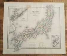 Antique Colored MAP/GRAY'S - JAPAN (or AFRICA) - The National Atlas 1893