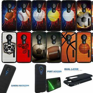 Dual Layer [Motorola Moto G7 Play] Case with Matte Black Grip Design