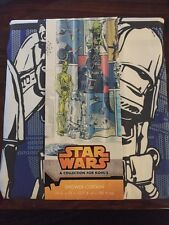 Star Wars Shower Curtain Darth Vader Yoda Chewbacca Storm Troopers R2D2 C3PO New