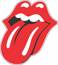 "Rolling Stones Tongue Music Bumper sticker, wall decor, vinyl decal, 5""x 4.5"""