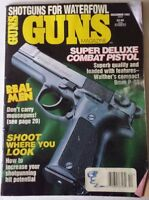 1992 December VTG Guns Magazine Super Deluxe Combat Pistol Shotguns Waterfowl