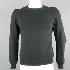 COMME des GARCONS HOMME PLUS Size S Black Solid Cotton Crew-Neck Sweatshirt