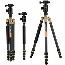 "K&F Concept TC2534 Pro Camera Carbon Fiber Tripod Monopod Ball Head Mount 66"" BK"
