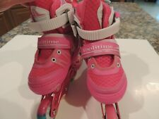 Woolitime InLine Skates Pink W/Light Up Wheels Adjusable Fits Girls Size Small