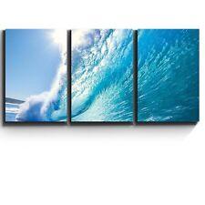 "Wall26 3 Piece Canvas Print - Ocean wave - Surf barrel - 16""x24""x3 Panels"