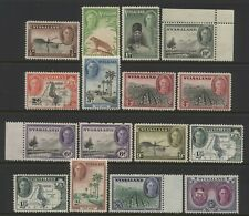 Nyasaland 1945 Collection 16 KGV Multi Design Values Mounted Mint