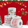 LN_ UK_ EG_ Xmas Santa Claus Deer Print Toilet Roll Paper Tissue Living Room T