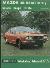 Mazda rx-3 rx3 SALOON ESTATE COUPE with Wankel Rotary engine 1972-repair manual