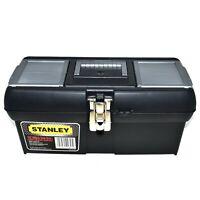 "STANLEY® METAL LATCH TOOL BOX 16"" HEAVY DUTY STORAGE CHEST ORGANISER TOOLBOX"