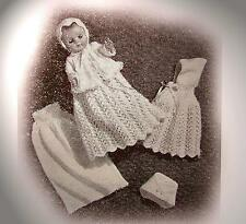 """Vintage BABY DOLL 5 piece Outfit 14"""" (Knitting Pattern)"""