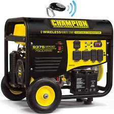 New Champion 9375 wt Gas Portable Gasoline Generator Carb Remote Electric Start