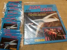 Star Trek:Next Generation Panini Album & 10 Unopened Sticker Packs ALL SEALED!!!