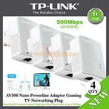 TP-LINK AV500 Nano Powerline Adapter Gaming TV Networking Plug TL-PA4010 X 4