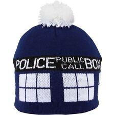 41d6a79c435 Doctor Dr Who Tardis Pom Beanie Knit Hat Cap Blue Police Box Tom Baker  LICENSED