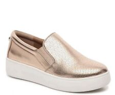 New Steve Madden Genette Rose Gold Slip On Womens 7.5 Perforated Sneakers Shoes