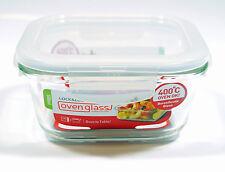 Lock & 500ml Quadratisches Glas Vorratsbehälter Ofen Geschirr Schale Mikrowelle