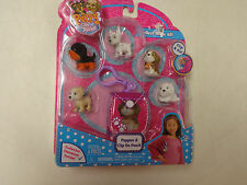 NIP PUPPY IN MY POCKET PUPPIES & CLIP ON POUCH  SET   6  PCS   COLLECTIBLE