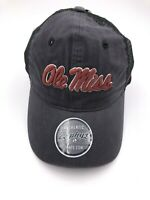 NCAA Zephyr Ole Miss Rebels Men's Raven Relaxed Snap Back Hat  Black New!
