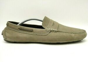 Johnston Murphy Taupe Sheepskin Leather Driving Penny Loafers Shoes Men's 11.5 M