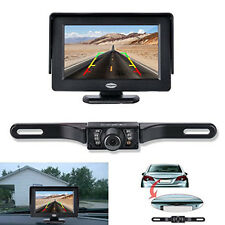 "4.3"" Car LCD Monitor Foldable Reverse Rearview Parking System Rear view Camera"