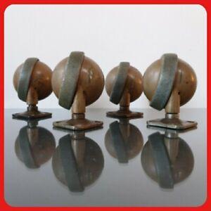 4 x Vintage Archibald Kenrick Shepherd Castors 2.5 inch 63mm Large Ball MCM (A)