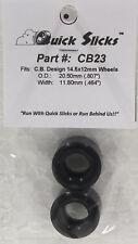 QUICKSLICKS CB23 SILICONE TIRES FOR 14x12mm F1 ALUMINUM WHEEL 1/32 SLOT CAR PART