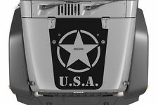 Vinyl Decal Army Star Hood Wrap Kit for Jeep Wrangler Rubicon 07-16 Matte Black