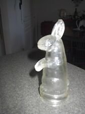 Rabbit With Feet Together, Round Nose Glass Candy Container, Very Hard To Find!