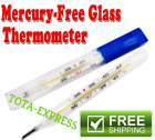 USA Mercury Free Glass Thermometer For Baby Kid Adult Medical Oral Thermometers