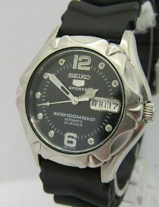 Seiko '5' Sports 100M 7S36-00M0 'SNZ447' Mens 23J Automatic Watch, Skeleton Case