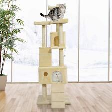 71in Deluxe Multi-Level Cat Scratching Tree Kitten Condo Play House Kitty Condos