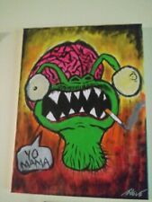 """'The Playa Hater What Came From Outie Space' Original Painting on 16x12"""" Canvas"""