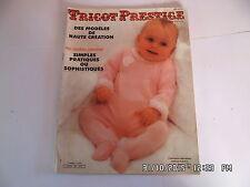 TRICOT PRESTIGE N°35 NOV 1985 MODELES LAYETTE ET ENFANTS   I36