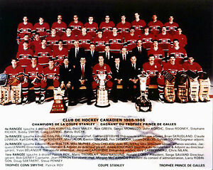 Montreal Canadiens 1985-86 Stanley Cup Championship - 8x10 Team Photo