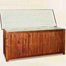 Cassapanca baule box in legno per esterno giardino con rivestimento L 120 cm