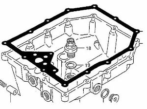 Sump Gasket from Athena for Suzuki GSF 1200 Bandit from 1996-2006