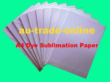 100 x A4 Dye Sublimation Paper For Ink Jet Printer HQ for Heat Transfer