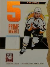 2012 PANINI ELITE -  RON FRANCIS PRIME NUMBERS GAME WORN MATERIALS  #40/549