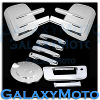 07-13 Silverado+Sierra Chrome Tow Mirror+4 Door Handle+Tailgate w.KH+Gas Cover