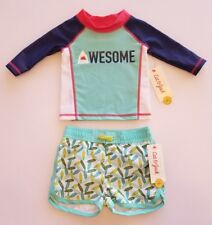 NEW Cat & Jack Baby Boy's AWESOME Rash Guard & Swim Shorts SET ▪3-6 Months NWT