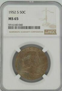 1952 S 50C Franklin Half Dollar NGC MS65