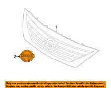 NISSAN OEM 15-18 Versa Front Bumper Grille-Emblem Badge Nameplate 628891JB0A