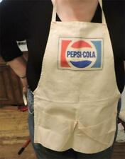 Vintage Pepsi Cola Soda Vendors Store Barbecue Chef Advertising Canvas Apron
