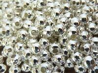 250 pce Bright Silver Tone Round Spacer Beads 4mm Jewellery Making Craft