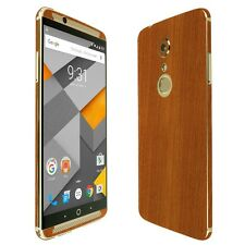 Skinomi Light Wood Skin+Clear Screen Protector for ZTE Axon 7