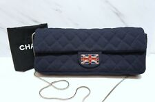 CHANEL Union Jack Med Single Flap Shoulder Bag Clutch Bag A378 Collector's Item!