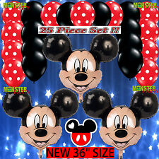 25 Bundle Mickey Mouse Birthday Party Balloons Balloon Minnie Disney head